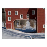 Red barn winter cards