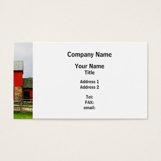 Red Barn with Fence Business Card
