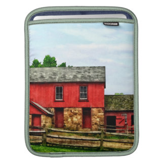 Red Barn with Fence iPad Sleeves