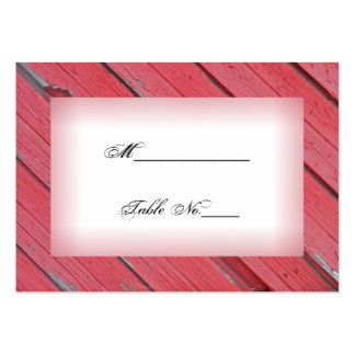 Red Barn Wood Country Wedding Place Card Business Card Template