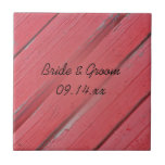 Red Barn Wood Country Wedding Tile