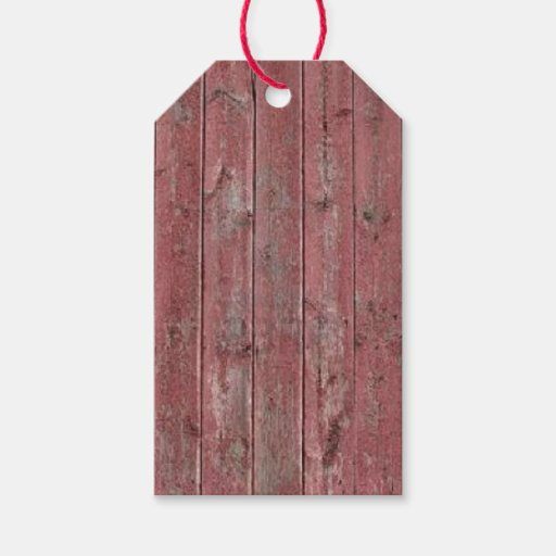 Red Barn Wood Gift Tags