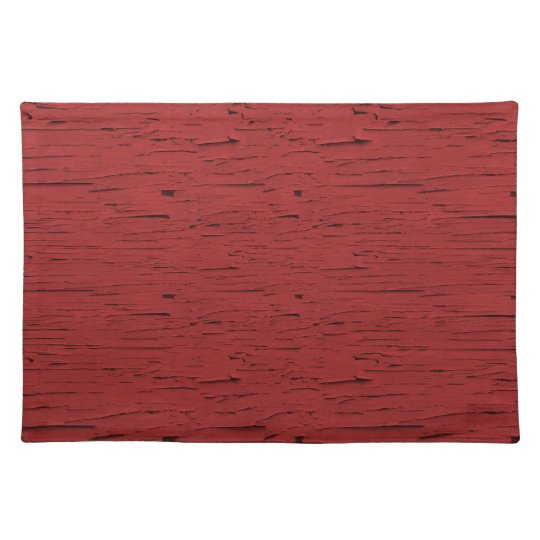 Red Barn Wood Texture Placemat