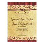 Red Barn Wood Vintage Paper Wedding Invitations