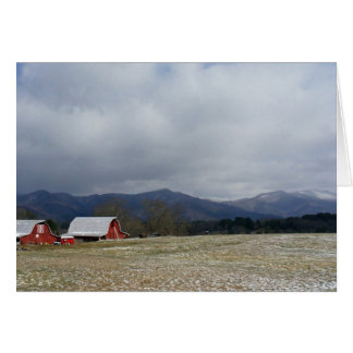 Red Barns Stationery Note Card