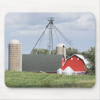 Red Barns With Silos Mouse Pad