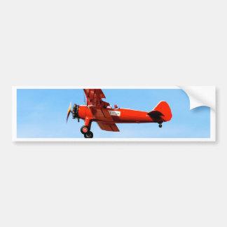 Red Baron Bi Plane Car Bumper Sticker