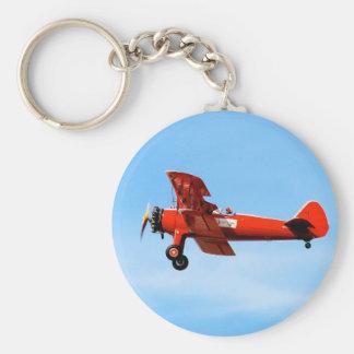 Red Baron Bi Plane Keychain