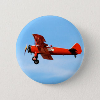 Red Baron Bi Plane Pinback Button