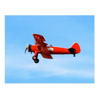 Red Baron Bi Plane Postcard