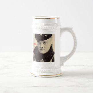 Red Baron Portrait Mug, w RedBaron Gear logo back Beer Stein