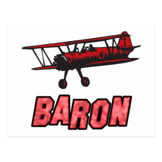 Red Baron Postcard