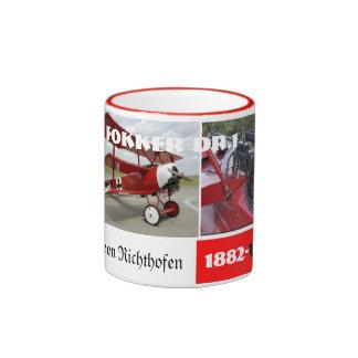 red baron ringer coffee mug