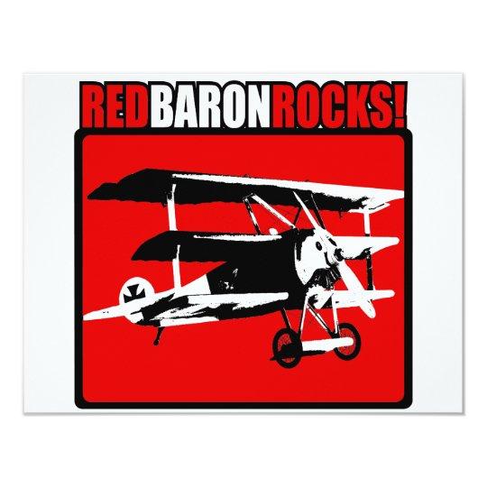 Red Baron Rocks! Card