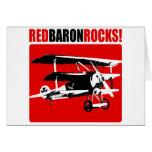 Red Baron Rocks Card