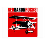 Red Baron Rocks Post Cards