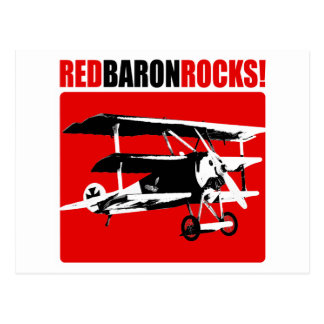 Red Baron Rocks! Postcard