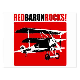 Red Baron Rocks Postcard