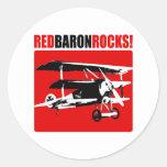 Red Baron Rocks Stickers