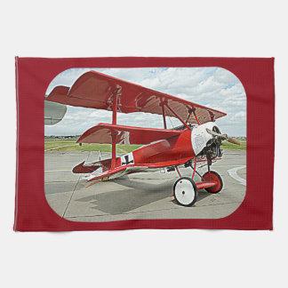 Red Baron's triplane Hand Towels