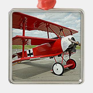 Red Baron's triplane Metal Ornament