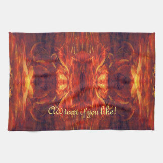 Red Baroque Cool Abstract Kitchen Towels