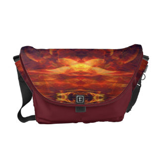 Red Baroque Cool Abstract Courier Bag