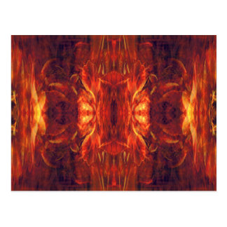 Red Baroque Cool Abstract Postcard