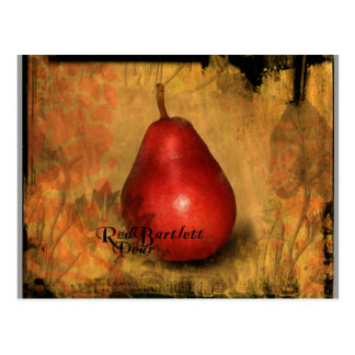 Red Bartlett Pear Postcard