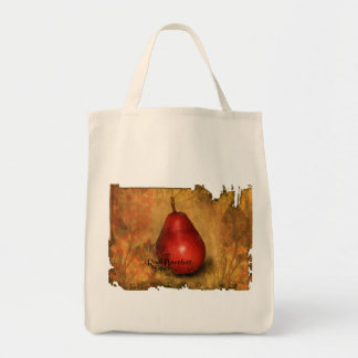 Red Bartlett Pear Tote Bag