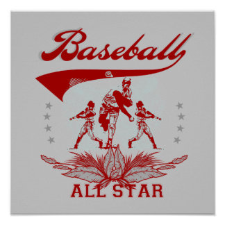 Red Baseball All Star T-shirts and Gifts Print
