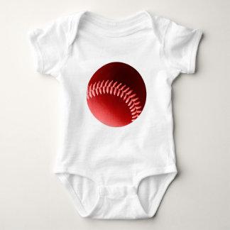 Red Baseball Baby Bodysuit