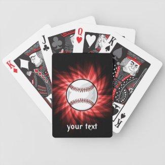 Red Baseball Bicycle Card Decks