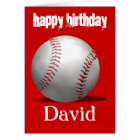 Red Baseball Birthday Card