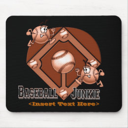 Red Baseball Cartoon Mouse Pad