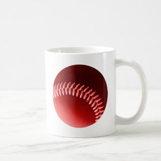 Red Baseball Coffee Mug
