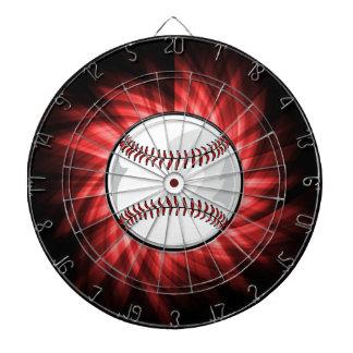 Red Baseball Dart Board