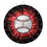 Red Baseball Dartboard