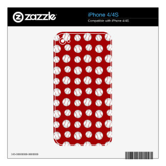 Red baseball decal for iPhone 4