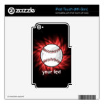 Red Baseball Decals For iPod Touch 4G
