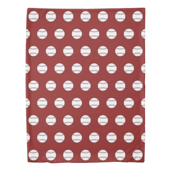 Red Baseball Duvet Cover