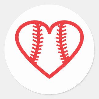 red baseball heart love stickers