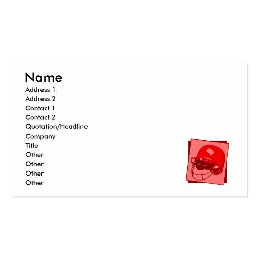 red baseball helmet logo Double-Sided standard business cards (Pack of 100)