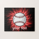 Red Baseball Jigsaw Puzzle