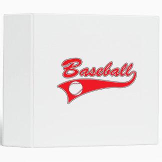 Red Baseball Logo Binder