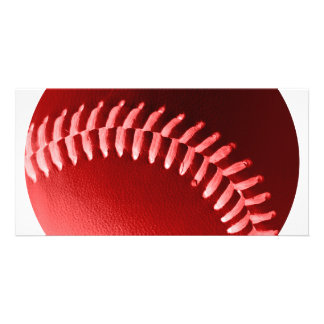 Red Baseball Personalized Photo Card