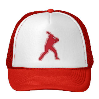 Red baseball player simple hat