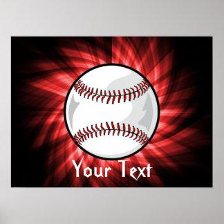Red Baseball Print