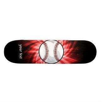 Red Baseball Skateboard Deck