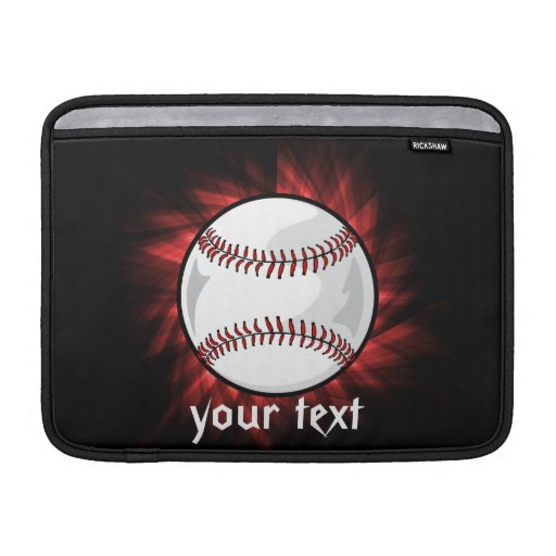 Red Baseball Sleeve For MacBook Air